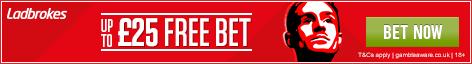 £25 Ladbrokes Free Bet
